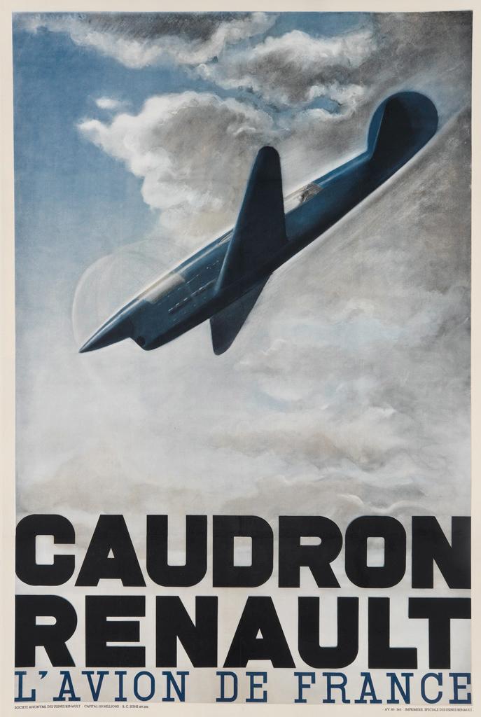 lithograph posters caudron renault l 39 avion de france h chauffard. Black Bedroom Furniture Sets. Home Design Ideas