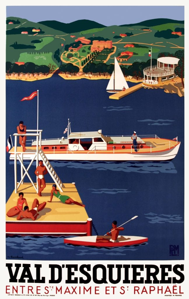 Vintage Posters Val D Esquieres Entre St Maxime And St